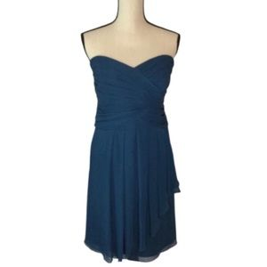 David's Bridal Teal Strapless Special Occasion 18